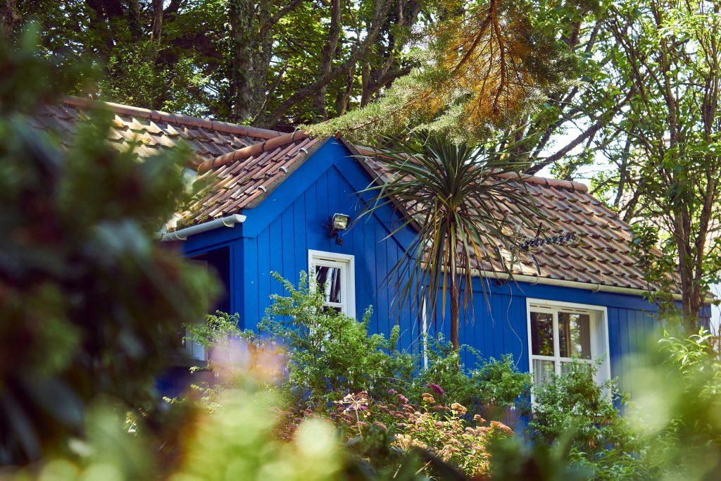 maison bleu de woofing
