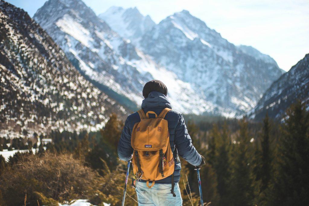 woofer devant une montagne eneigée